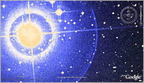 Google Earth Cielo: Estrellas