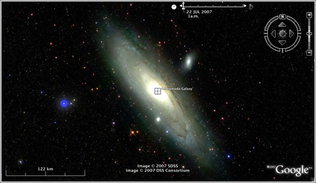 Google Earth Sky: Andrómeda M31
