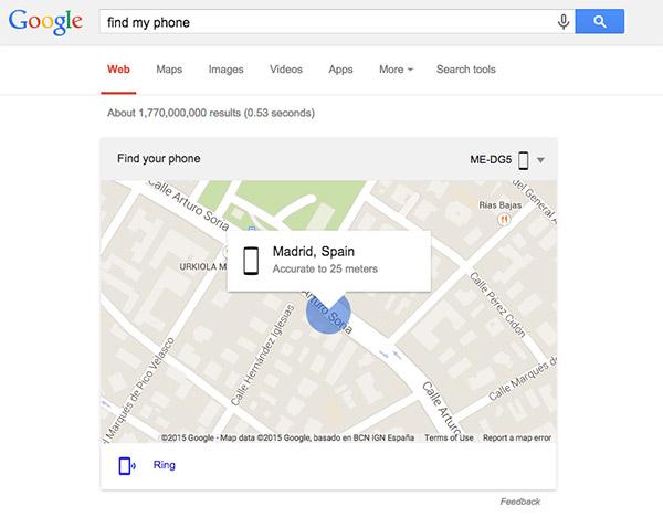 Google: Find my Phone