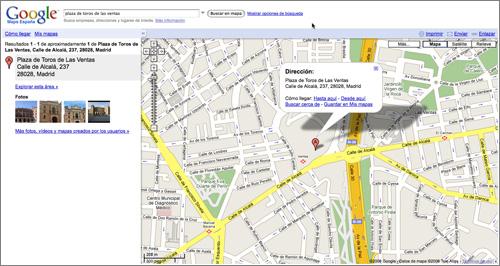 Google Maps: modo callejero