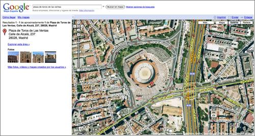 Google Maps: modo satélite