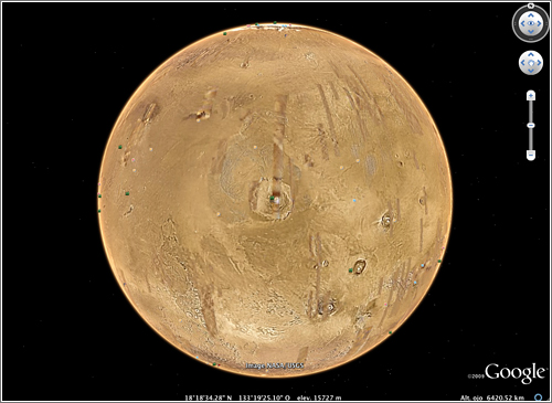 Google Mars en Google Earth 5