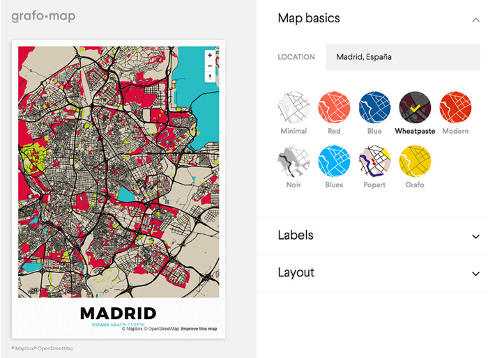 Grafo map mapa madrid