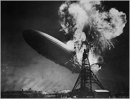 Hindenburg incendiado, © Bettman Archive