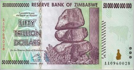 «Cincuenta trillones de dólares zimbawenses», así como suena