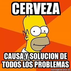 Homer cerveza causa solucion