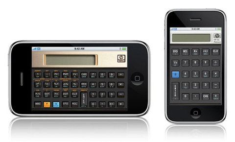 Calculadoras Hewlett-Packard para iPhone / iPod Touch / Windows