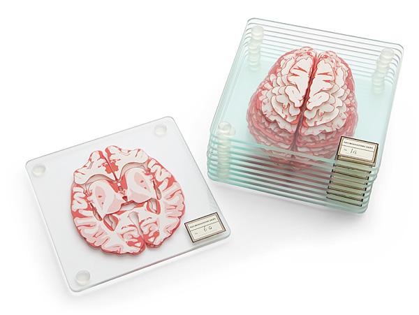 Huir Brain Specimen Coasters