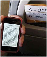 iPhone con la aplicación Kindle