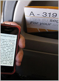 Kindle para iPhone en vuelo