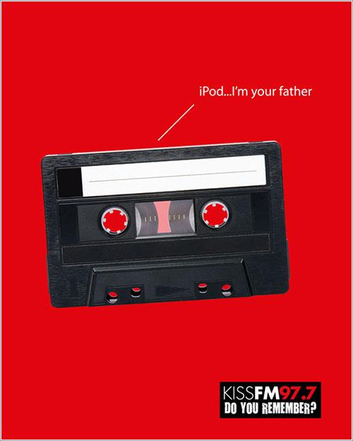 iPod yo soy tu padre para Kiss FM