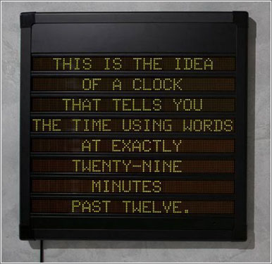 Idea-Word-Clock