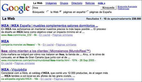 Ikea, Blogs, Google