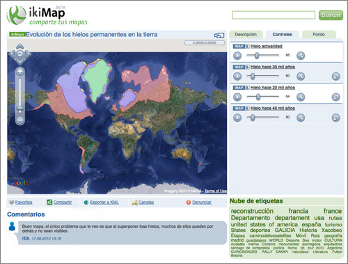Ikimap: un servicio para compartir mapas