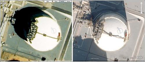 Detalle imagen Google Earth Cataluña