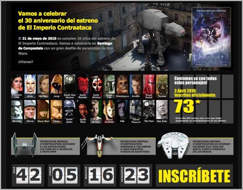 Imperial Stormtroopers: Santiago de Compostela 2010 homepage [Bueno, en realidad quedan 47 días ;-]