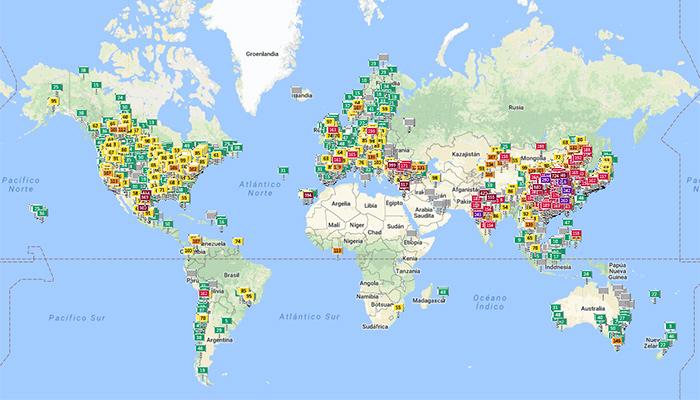 Indice calidad aire mundo