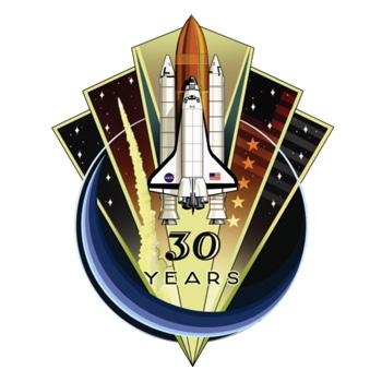 Insignias de las misiones de los transbordadores espaciales de la NASA