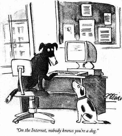 En Internet, nadie sabe que eres un perro
