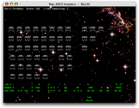 Mac Ascii Invaders © Chuck Houpt