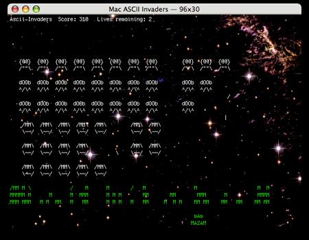 Mac Ascii Invaders © Chuck Houpt