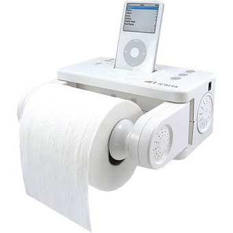 Base iPod y papel higiénico