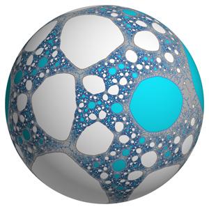 Dos conjuntos de Julia fractales en la superficie de una esfera / Arnaud Chéritat
