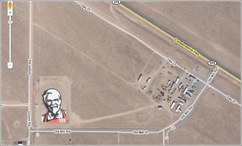 KFC logo en Google Maps
