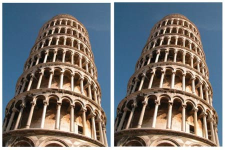 The leaning tower illusion © 2007 Kingdom, Yoonessi & Gheorghiu