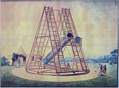 Dibujo original del Telescopio de Herschel / Obsevatorio de Madrid