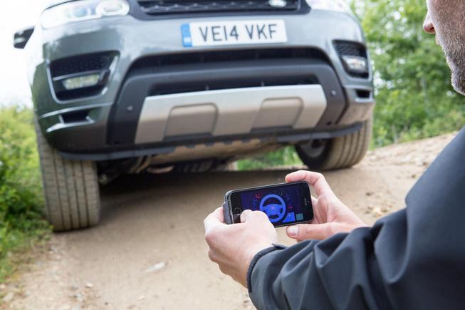 Land Rover teledirigido smartphone