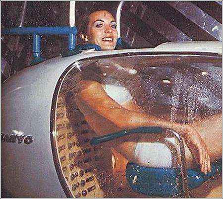 Lavadora Humana Sanyo de 1970