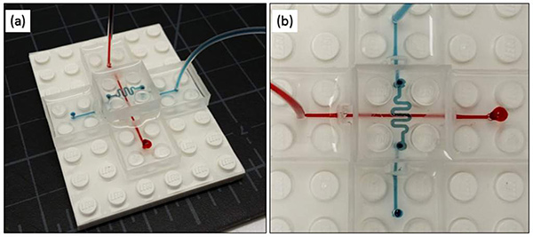 Lego microfluidos kit demo