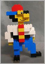 El muñeco de la portada de «Microserfs» en piezas de Lego