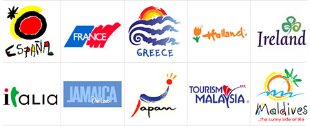 Logos turísticos de paises