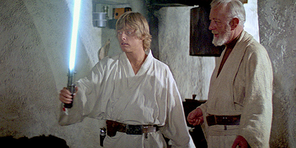 Luke espada laser obiwan