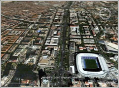 Paso de la Castellana (Actual, Google Earth)