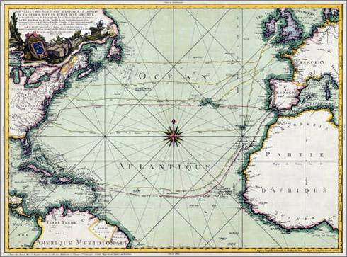 Nouvelle carte de l'Ocean Atlantique et théatre de la Guerre tant en Europe qu'en Amerique / 1972 / Institut Cartogràfic de Catalunya