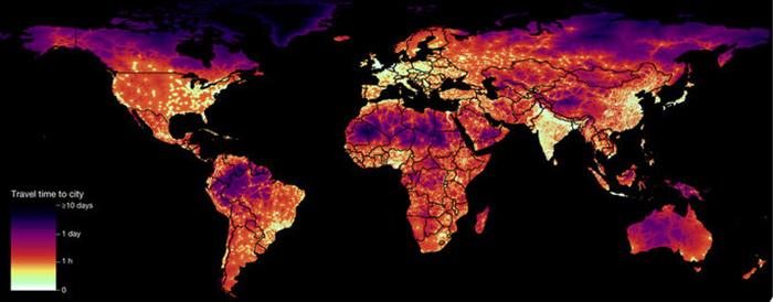 Mapa accesibilidad ciudades