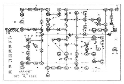 Mapa de Arpanet / Joyce Reynolds / 1982