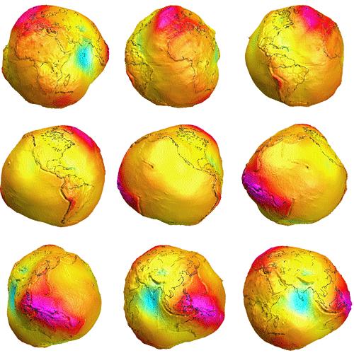 Mapa Gravitacional Tierra - GRACE