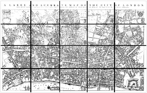 Ogilby and Morgan's large scale map of the city as rebuilt by 1676
