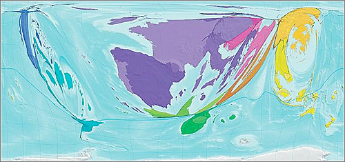 Mapa relación entrada salida turistas