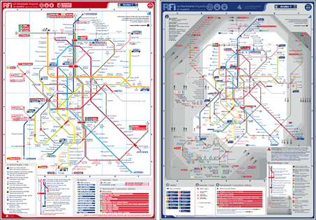 Plano de red ferroviaria integrada de  RFI, mapa del metro