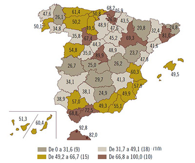 Mapa de la cobertura 4G en España