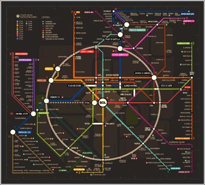 Mapa del Metro / Javier Noguerol