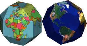 Mapas del mundo poliédricos