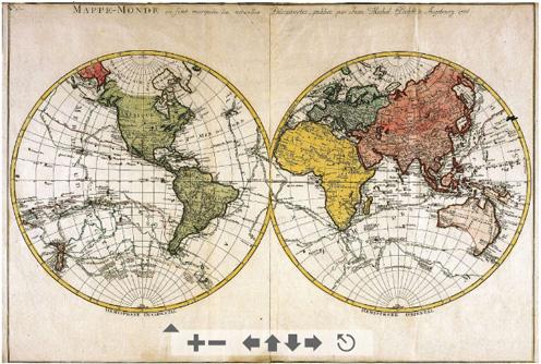 Uno de los mapas de la Colección Ryhiner