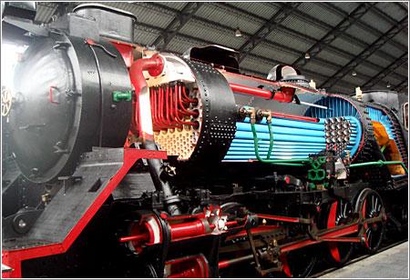 Maquina de Vapor en el Museo del Ferrocarril de Madrid
