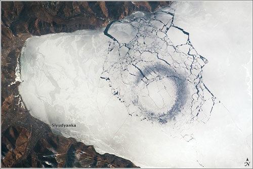 Marca en el lago Baikal